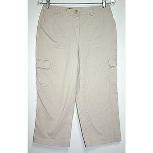 Briggs New York Womens Size 8 Beige Capri Pants